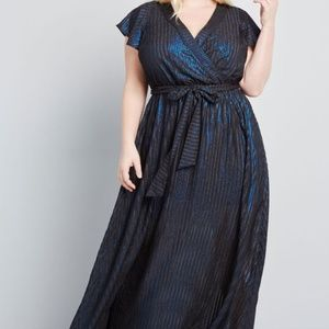 Modcloth Your Time to Shine Maxi Dress Blue